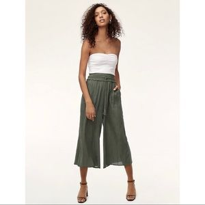Aritzia Wilfred Wide Leg Pants Black (Nanterre)